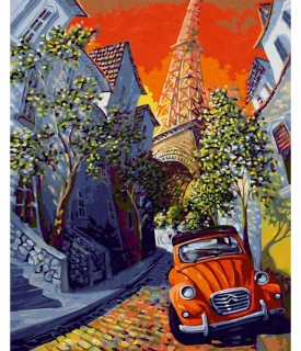 The Little Red Citroën - Miguel Freitas (40 x 50 cm)